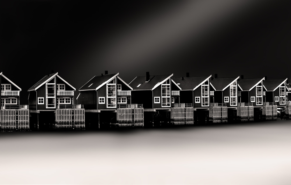 A piece of fine art art photography titled Cottages by Peter Futo