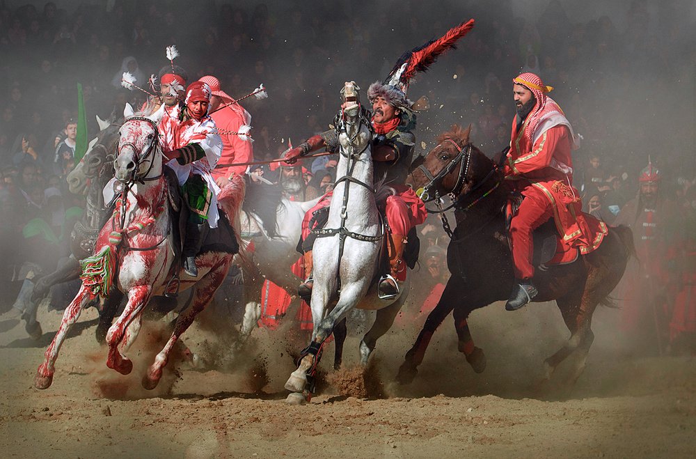 A piece of fine art art photography titled Moment of War by seyed ali miremadi