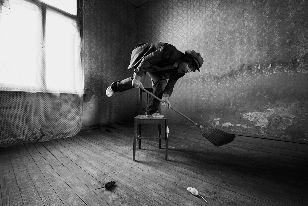A piece of fine art art photography titled Musophobia by mario grobenski - psychodaddy