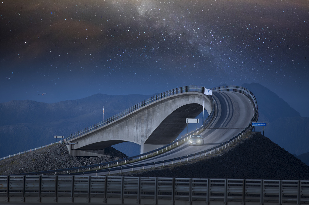 A piece of fine art art photography titled Atlantic Road by Mikael Sundberg