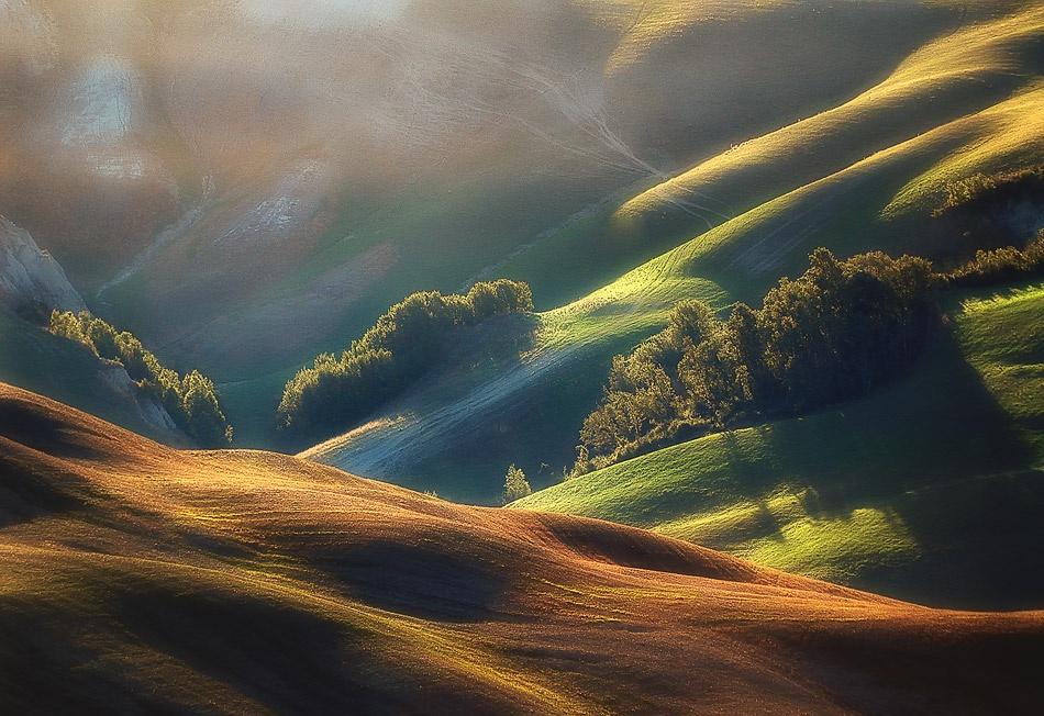A piece of fine art art photography titled Tuscany Sunrise by Jarek Pawlak