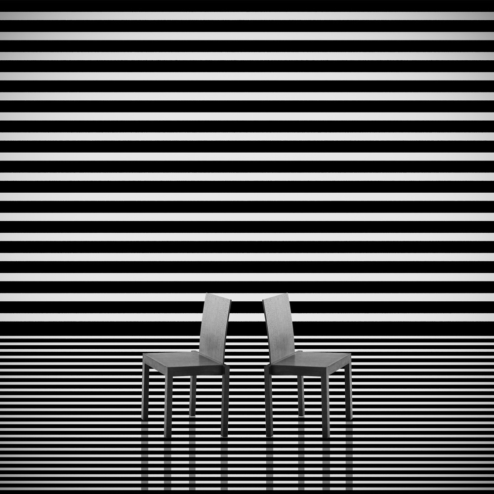 View this piece of fine art photography titled Chairs and stripes by Anette Ohlendorf