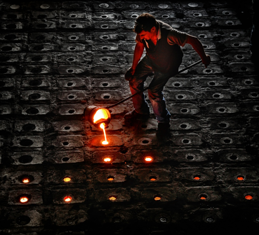 A piece of fine art art photography titled Metalworker by Murat YILMAZ