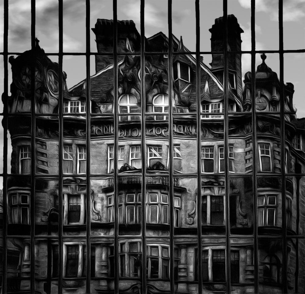 A piece of fine art art photography titled Reflections B&W by Robert Wake