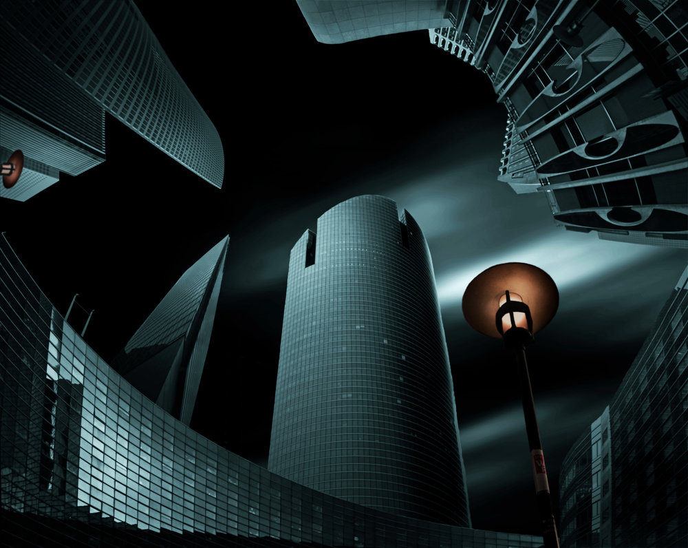 A piece of fine art art photography titled La Défense VII by pierre bacus