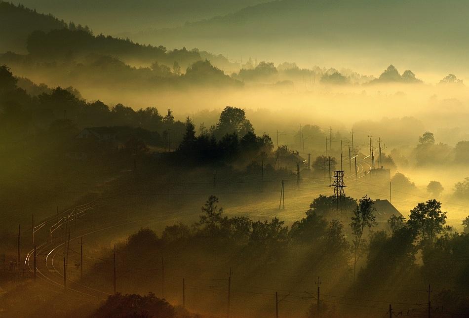 A piece of fine art art photography titled Sleepy Travel by Janusz Wanczyk