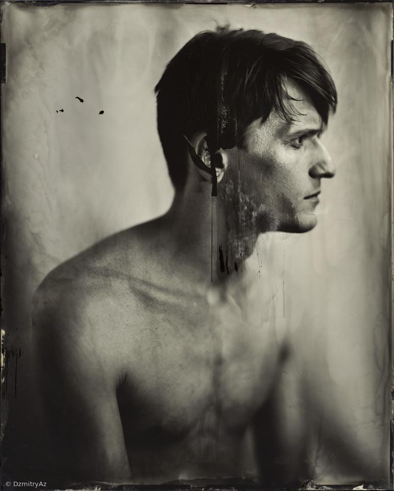 Alex, Wet plate collodion. Tintype 20x25cm .