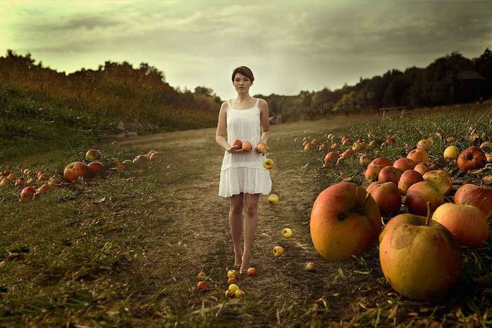 A piece of fine art art photography titled Apples by Mike Darzi