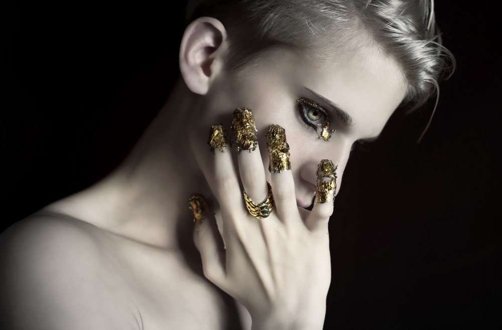 A piece of fine art art photography titled Fashion Shooting by Laura Gaugler