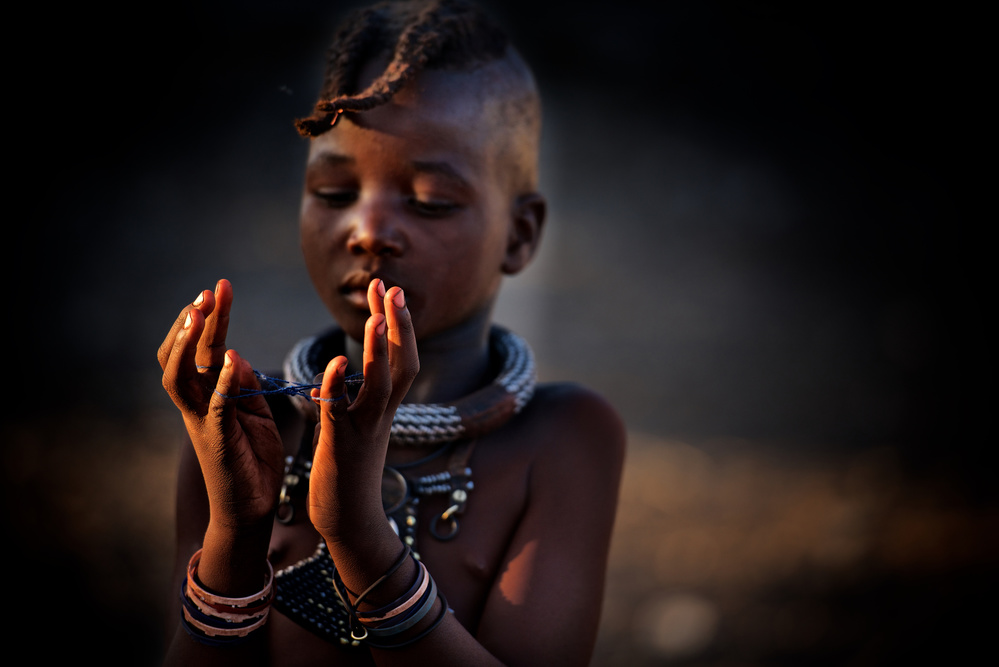 A piece of fine art art photography titled The World In My Hands by Trevor Cole