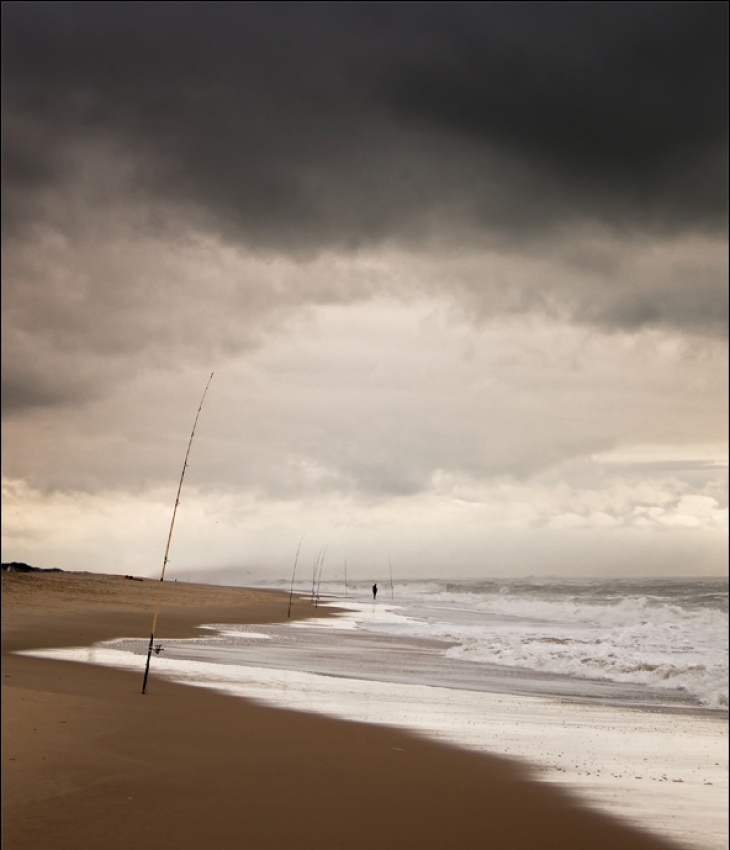 A piece of fine art art photography titled Fishing Day by José Viegas