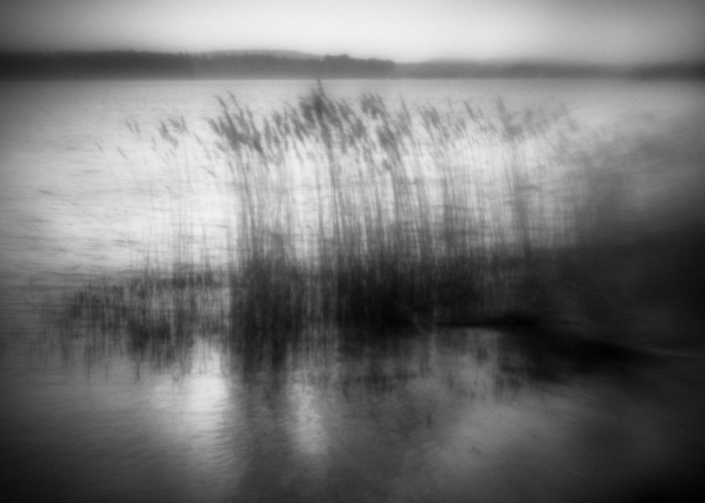 A piece of fine art art photography titled Evening Silence at the Lake by Anne Rose Pretorius
